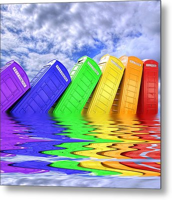 Out Of Order - A Rainbow - Kingston - Surrey Metal Print by Colin J Williams Photography
