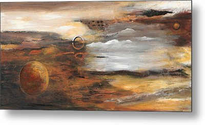 Outer Moons Metal Print by Lauren  Marems