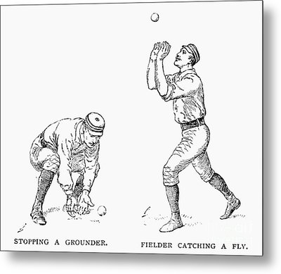 Outfielder, 1889 Metal Print by Granger