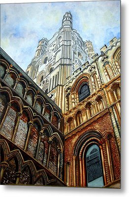 Outside Ely Cathedral Metal Print by Emmanuel Turner