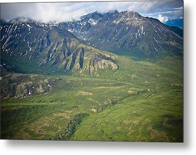 Over Alaska Metal Print by Jen Morrison