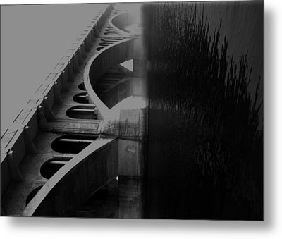 Over The Bridge Metal Print by JC Photography and Art