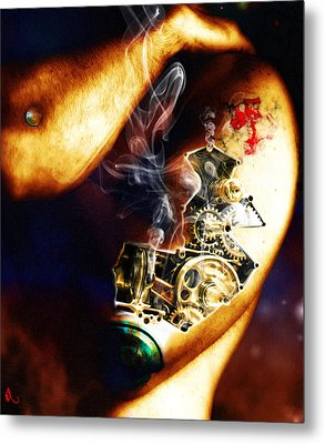 Over Worked Metal Print by Adam Vance