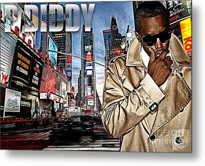 P Diddy Metal Print by The DigArtisT