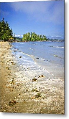 Pacific Ocean Coast On Vancouver Island Metal Print by Elena Elisseeva