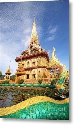 Pagoda In Wat Chalong Phuket  Metal Print by Anusorn Phuengprasert nachol