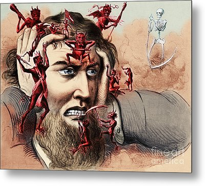 Pain Metal Print by Omikron and Photo Researchers