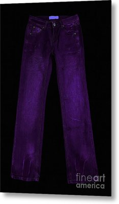 Pair Of Jeans 4 - Painterly Metal Print by Wingsdomain Art and Photography
