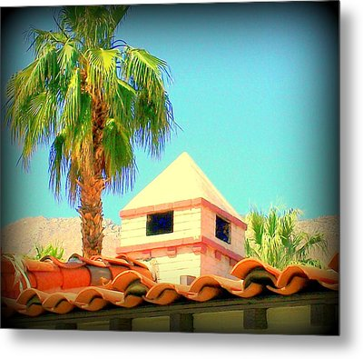 Palm Springs Pyramid Colonial Metal Print by Randall Weidner