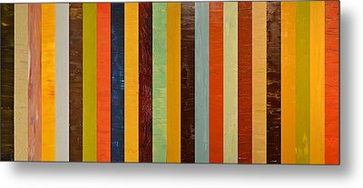 Panel Abstract Lll  Metal Print by Michelle Calkins