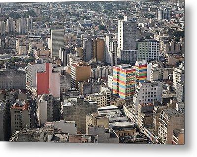 Panoramic View Of Sao Paulo Metal Print by Jacobo Zanella