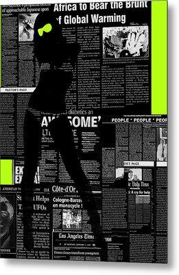 Paper Dance 2 Metal Print by Naxart Studio