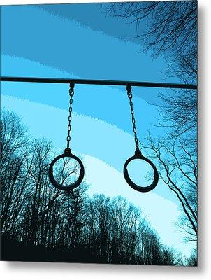 Parallel Rings Metal Print by Patricia Januszkiewicz