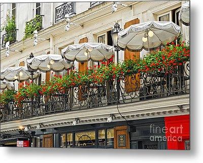 Paris Cafe Metal Print by Elena Elisseeva