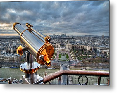 Paris Cityscape Metal Print by Romain Villa Photographe