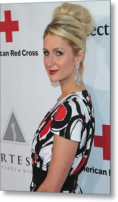 Paris Hilton At Arrivals For American Metal Print by Everett