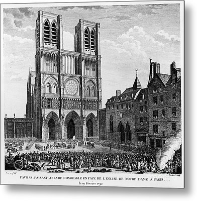 Paris: Notre Dame, 1790 Metal Print by Granger