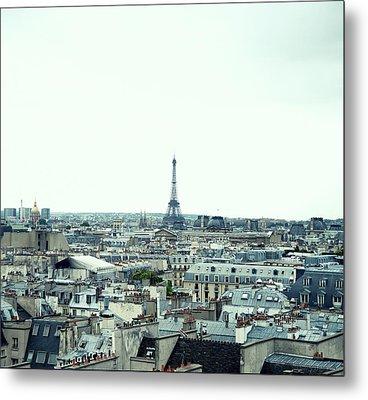 Paris Rooftops Metal Print by Carlo A