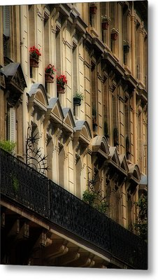 Paris Windows Metal Print by Andrew Fare