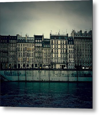 Parisian Architecture... Metal Print by Louise LeGresley