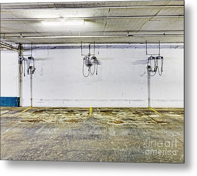 Parking Garage With Charging Stalls Metal Print by Skip Nall