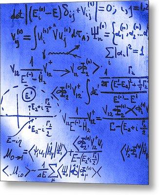 Particle Physics Equations Metal Print by Ria Novosti
