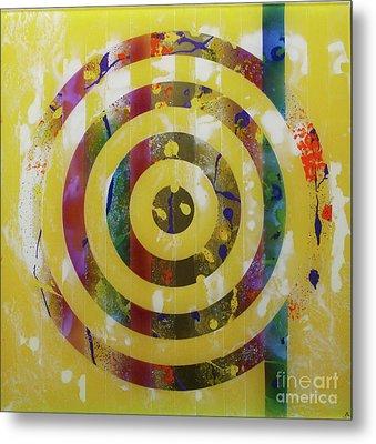 Party- Bullseye 2 Metal Print by Mordecai Colodner