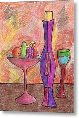 Party Of One Metal Print by Ray Ratzlaff