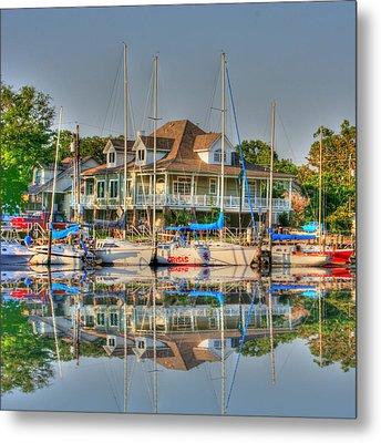 Pascagoula Boat Harbor Metal Print by Barry Jones