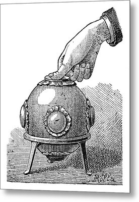 Pascal's Principle Demonstration, 1889 Metal Print by