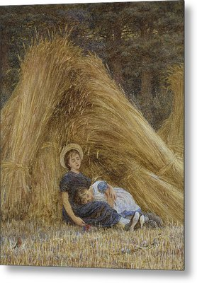 Past Work Metal Print by Helen Allingham