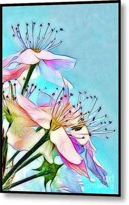 Pastel Petals Metal Print by Judi Bagwell