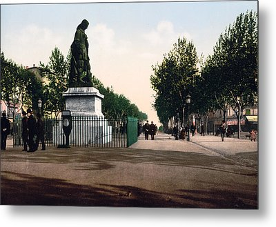 Paul Riquet Statue And The Allees In Beziers - France Metal Print by International  Images