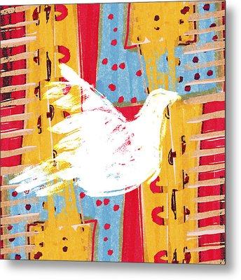 Peace Dove 2 Metal Print by Carol Leigh