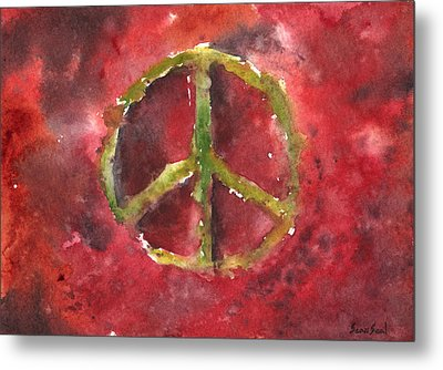 Peace Sign 61-12 Metal Print by Sean Seal
