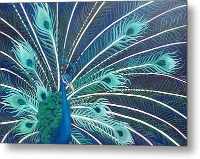 Peacock Metal Print by Estephy Sabin Figueroa