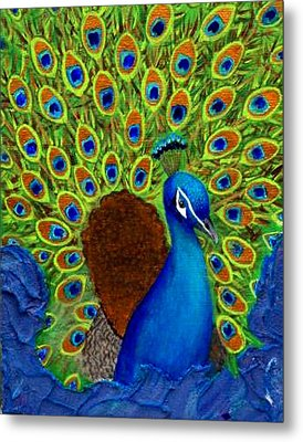 Peacock's Delight Metal Print by The Art With A Heart By Charlotte Phillips