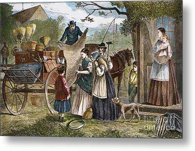 Peddlers Wagon, 1868 Metal Print by Granger