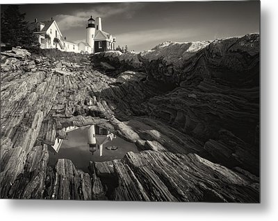 Pemaquid Point Reflection Metal Print by George Oze