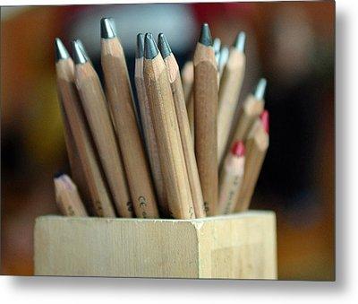 Pencils Metal Print by Lisa Phillips