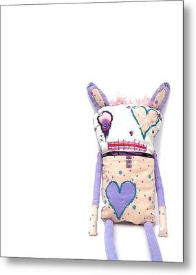Percry Of The Cutie Patootie Zombie Bunny Twins Metal Print by Oddball Art Co by Lizzy Love