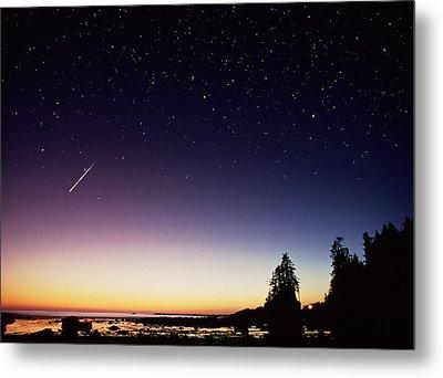 Perseid Meteor Trail Metal Print by David Nunuk