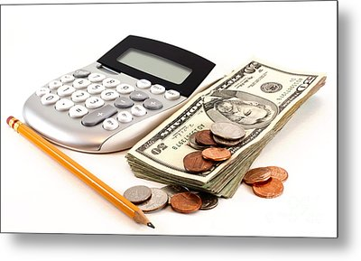 Personal Finance And Accounting Metal Print by Blink Images