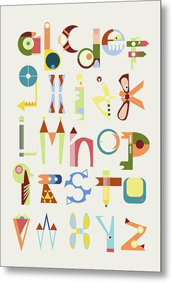Phantasy Alphabet Metal Print by Elke Vogelsang