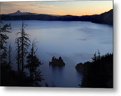 Phantom Ship Sunrise At Crater Lake Metal Print by Pierre Leclerc Photography