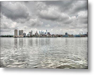 Philadelphia Across The Water Metal Print by Jennifer Ancker