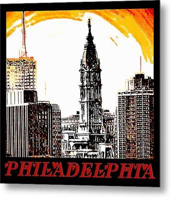 Philadelphia Poster Metal Print by Bill Cannon