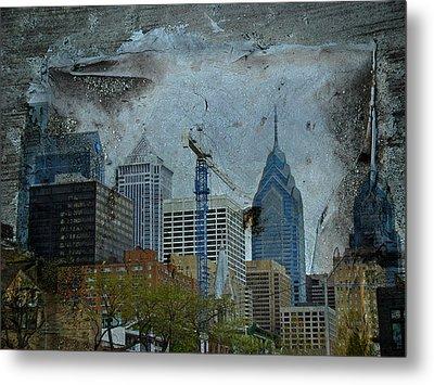 Philadelphia Skyline Metal Print by Mother Nature