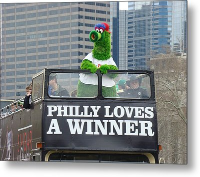 Philly Loves A Winner Metal Print by Alice Gipson