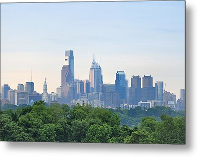 Philly Skyline Metal Print by Bill Cannon